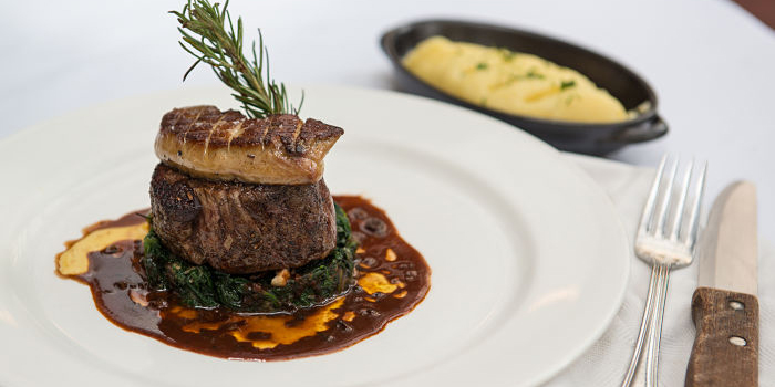 BLACK ANGUS FILET MIGNON W/ SEARED FOIE GRAS at Union Plaza Senayan, Jakarta