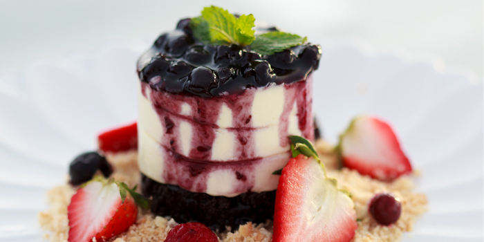 Blueberry cheesecake from Roy Dee Restaurant in Kata, Phuket, Thailand