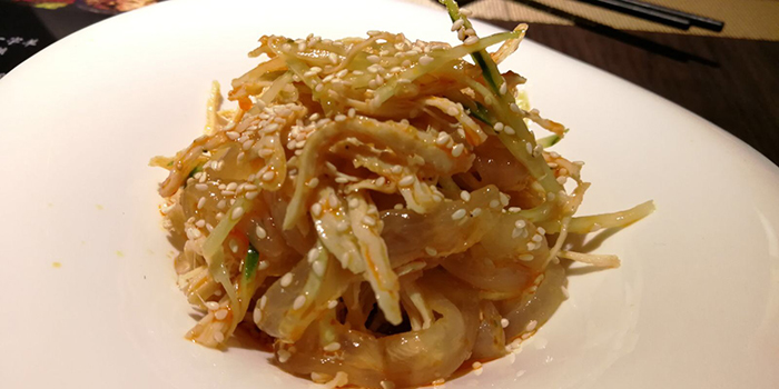 Chilled Jellyfish salad with shredded chicken, SiChuan Delicacy, Causeway Bay, Hong Kong