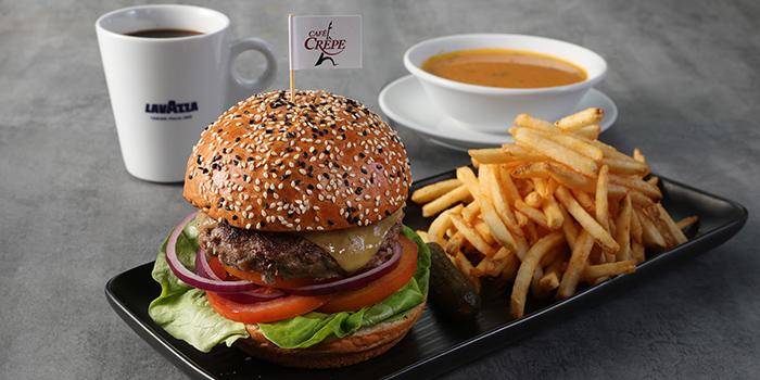 Classic Burger, Cafe Crepe, Central, Hong Kong