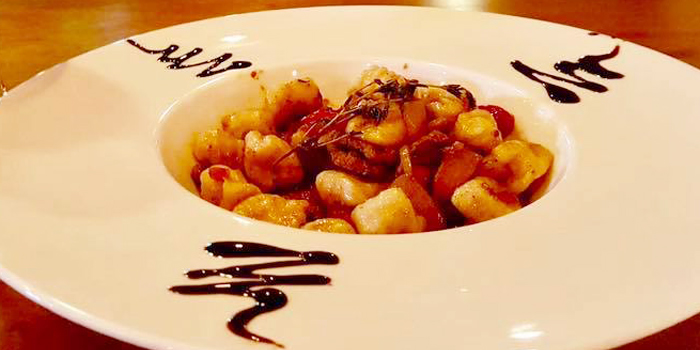 Gnocchi with Fresh Tomato and Basil from La Cantina Steakhouse in Rawai, Phuket, Thailand.