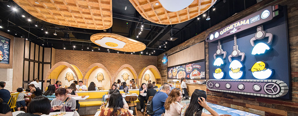 GUDETAMA CAFE SINGAPORE, SUNTEC CITY