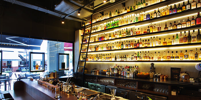 Interior of La Maison du Whisky in Robertson Quay, Singapore