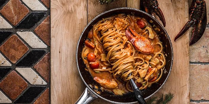 Boston Lobster Spaghetti with Artichokes, Theo Mistral by Theo Randall, Tsim Sha Tsui, Hong Kong