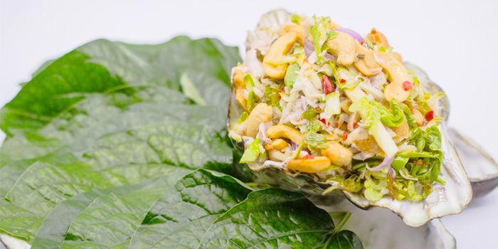 Seabass Salad with sour mango from Tantitium in Phuket Town, Muang, Phuket, Thailand