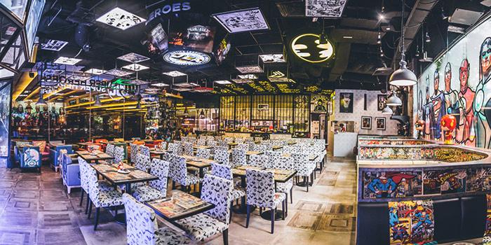 Dining Area of DC Super Heroes Cafe (Takashimaya) in Orchard, Singapore