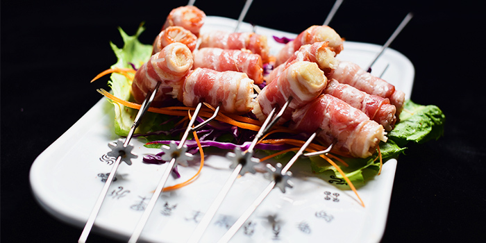 Bacon Enoki Skewer from The Hungry Caveman at Orchard Central in Orchard, Singapore