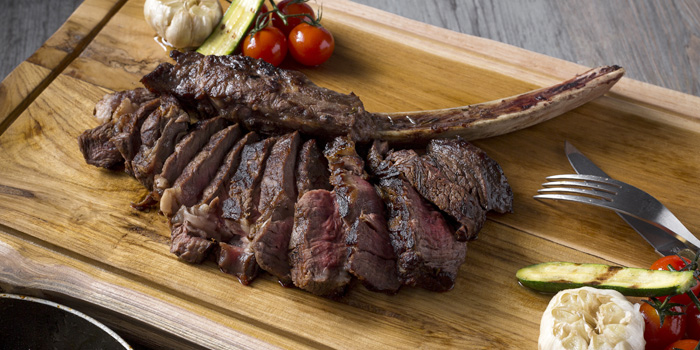 Tomahawk from Sea Salt Lounge & Grill in Patong, Phuket, Thailand.