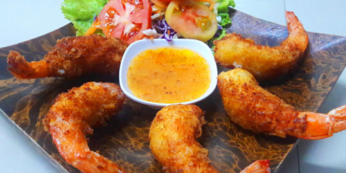 Chili Cheese Shrimp from Salsa Mexicana in Patong, Phuket, Thailand.