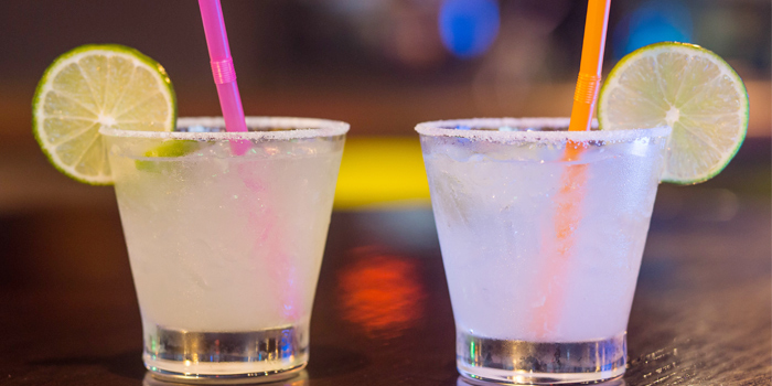 Cocktails from Coyote Mexican Bar & Grill in Patong, Phuket, Thailand.