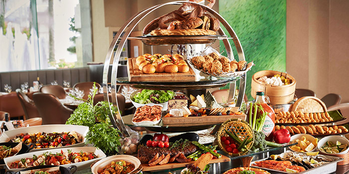 International Buffet Spread from Town at The Fullerton Hotel Singapore in Raffles Place, Singapore
