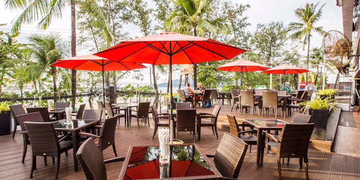 Outdoor Dining of Squires Loft Steakhouse Patong in Patong, Phuket, Thailand.