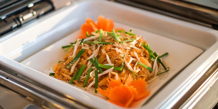 Pad Thai from Skyline at AVANI Riverside Bangkok Hotel 257 Charoennakorn Rd Thonburi, Bangkok