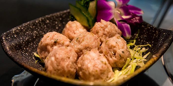 Pork Balls with Preserved Vegetable, Yang Xian Din Hot Pot, Mong Kok, Hong Kong