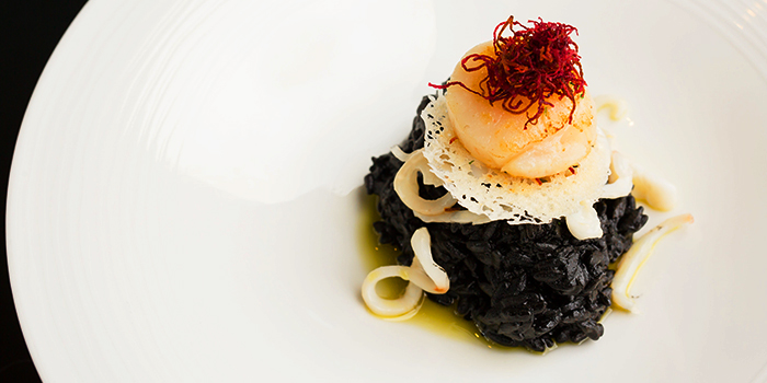 Risotto Nero from Caffé B at Club Street, Singapore