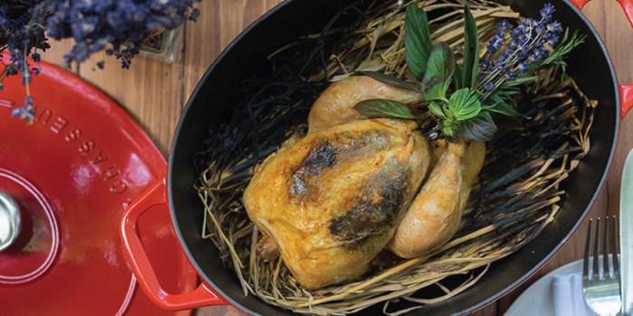 Roasted Whole Chicken from French St. at O.P.Garden Soi Charoenkrung 36 Charoenkrung Road Bangrak, Bangkok