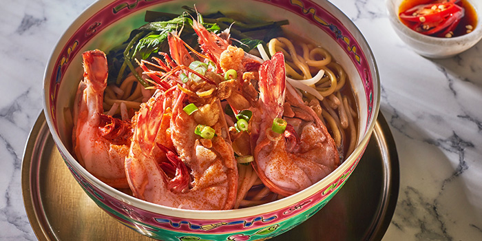 Prawn Noodle Soup from The Lobby Lounge at Shangri-La Hotel in Tanglin, Singapore