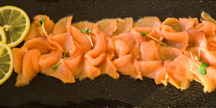 Smoked Salmon from Skyline at AVANI Riverside Bangkok Hotel 257 Charoennakorn Rd Thonburi, Bangkok
