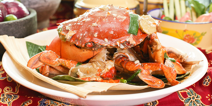 Spring Onion Ginger Crab from Spice Brasserie in Little India, Singapore