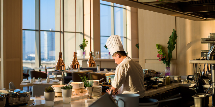 The Open Kitchen from Skyline at AVANI Riverside Bangkok Hotel 257 Charoennakorn Rd Thonburi, Bangkok