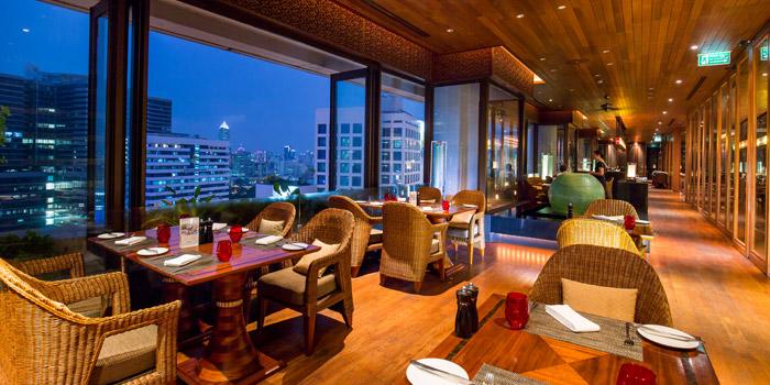 The View from Panorama at Crowne Plaza Bangkok Lumpini Park 952 Rama IV Road Bangkok