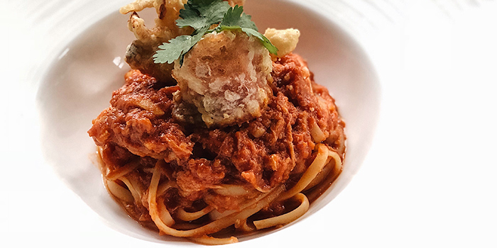 Chilli Crab Pasta from Winederlust in Little India, Singapore