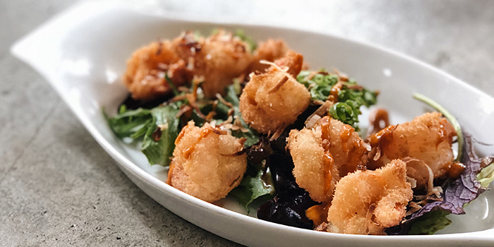 Fried Coconut Tiger Prawns from Winederlust in Little India, Singapore