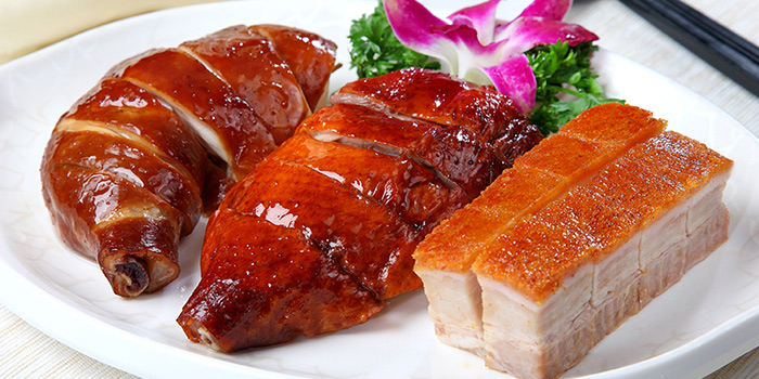 Triple Combination BBQ Meat from Heavenly Duck 天王鸭 at E! Avenue @ Downtown East in Paris Ris, Singapore