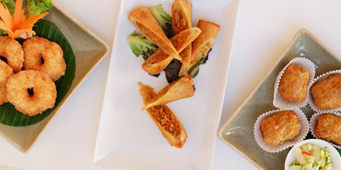 Appetizer from Ocean Best Restaurant in Patong, Phuket, Thailand.