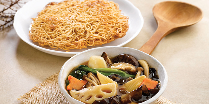 Wok-fried Assorted Vegetable Noodle with Gravy from Crystal Jade Kitchen (Clementi Mall) at The Clementi Mall in Clementi, Singapore