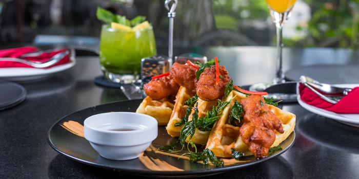Chicken Waffle from Indulge Fusion Food & Cocktail Bar at Between Sukhumvit 21&23 Sukhumvit Road Klongtoey-Nuea, Wattana Bangkok