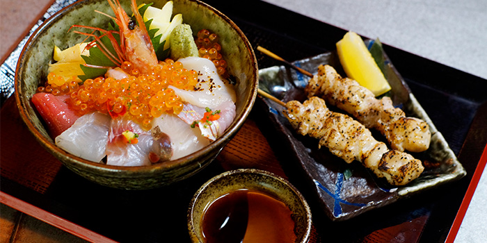 Chirashi Don Set from Kurama Robatayaki & Yoi Sake Bar at Millenia Walk in Promenade, Singapore