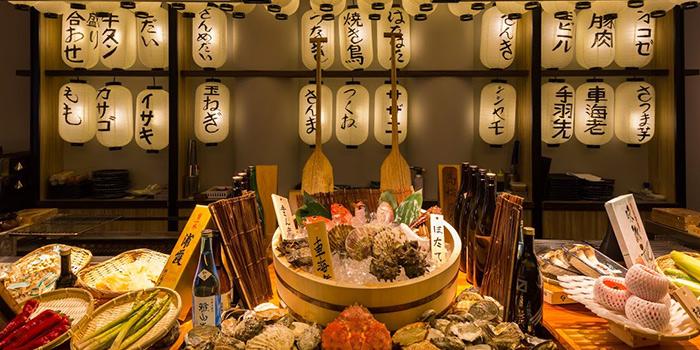 Counter Seat from Kurama Robatayaki & Yoi Sake Bar at Millenia Walk in Promenade, Singapore