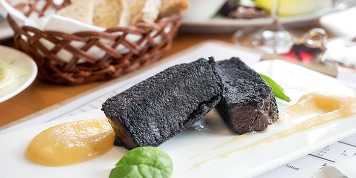 Crispy Black Pudding from atout in Dempsey, Singapore