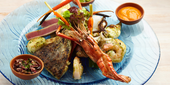 Grilled Seafood Platter from iO Italian Osteria at Central World Groove Zone, Floor 1 Rama 1 Rd, Pathumwan Bangkok