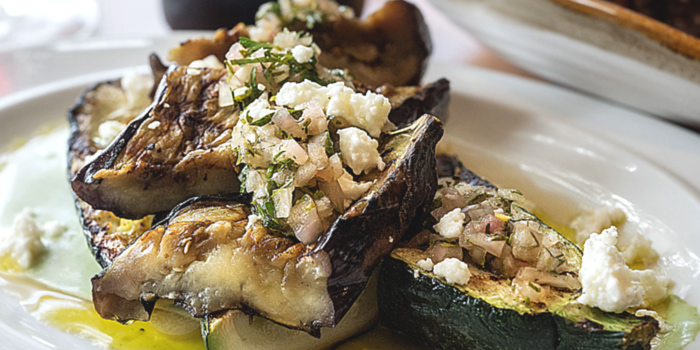 Grilled Eggplant from atout in Dempsey, Singapore