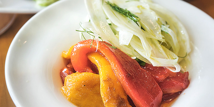 Grilled Sweet Peppers & Fennel Salad from atout in Dempsey, Singapore