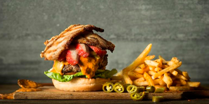 Hawker Burger from Cook & Brew at The Westin Singapore in Marina Bay, Singapore