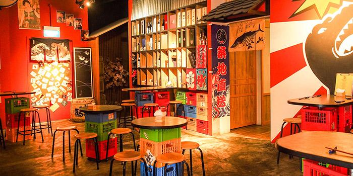 Interior from Kurama Robatayaki & Yoi Sake Bar at Millenia Walk in Promenade, Singapore
