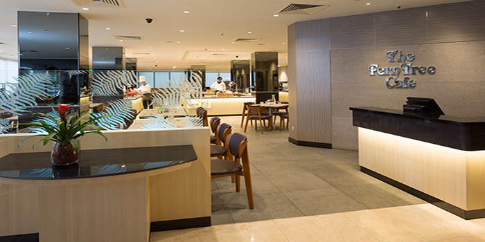 Interior ofThe FernTree Cafe at Hotel Miramar in River Valley, Singapore