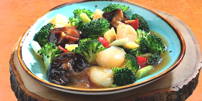 Broccoli & Scallops from Dining Place at Mandarin Gallery in Orchard, Singapore