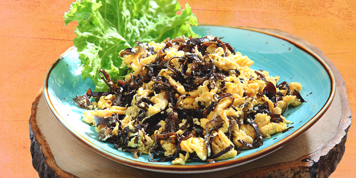 Fried Egg with Black Fungus from Dining Place at Mandarin Gallery in Orchard, Singapore