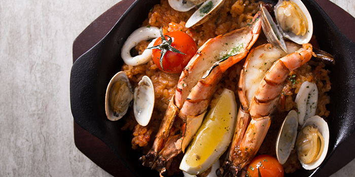 Seafood Paella from NUDE Seafood in Marina Bay Financial Centre in Raffles Place, Singapore
