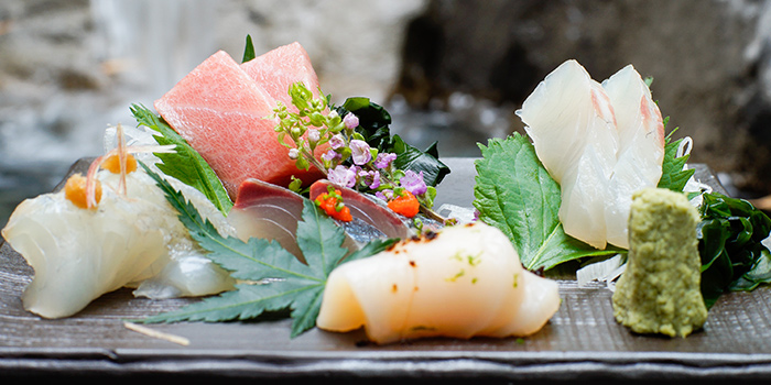Sashimi from Kurama Robatayaki & Yoi Sake Bar at Millenia Walk in Promenade, Singapore