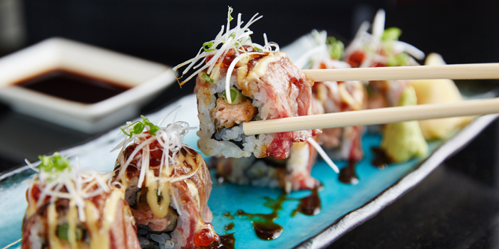 Signature Roll from Benihana at AVANI Atrium Bangkok 1880 New Petchburi Rd Bangkok