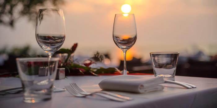 Sunset-Dinner of Paresa Dining in Kamala, Phuket, Thailand.