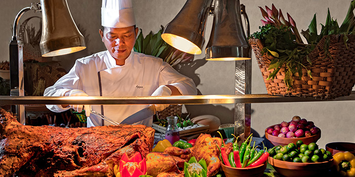 Live Carving Station in Hilton Singapore Ramadhan Pop-Up Restaurant along Orchard Road, Singapore