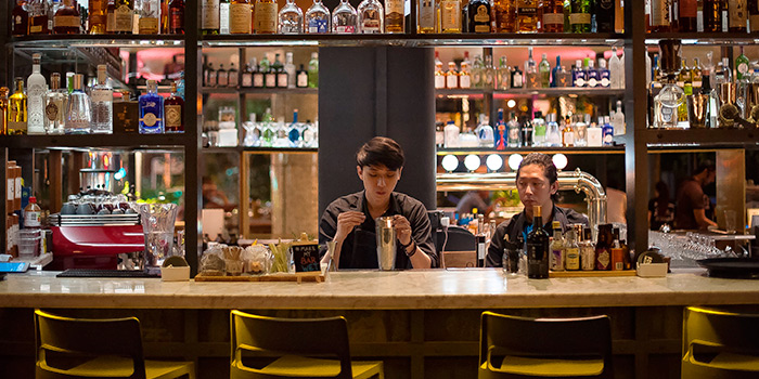 Bar of FOC PIM PAM at Claymore Connect in Orchard, Singapore
