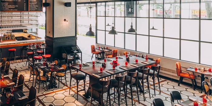 Interior of Ginett Restaurant & Wine Bar in Bugis, Singapore