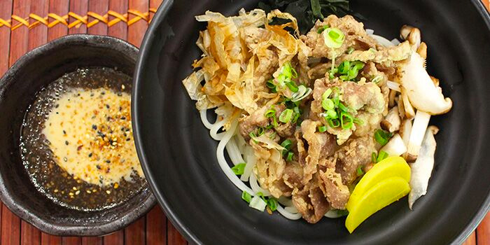 Black Pork Dry Udon with Chef